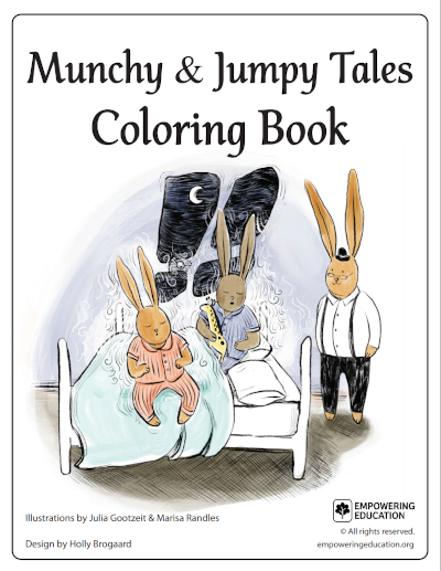 book munchy jumpy coloring