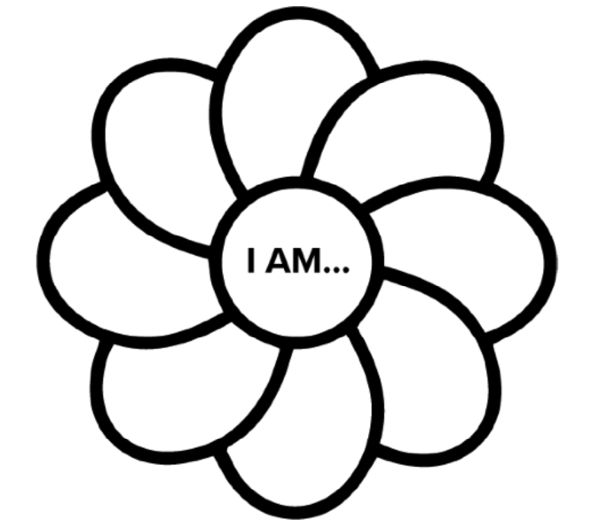 Use this flower graphic to teach positive affirmations flower to kindergarteners