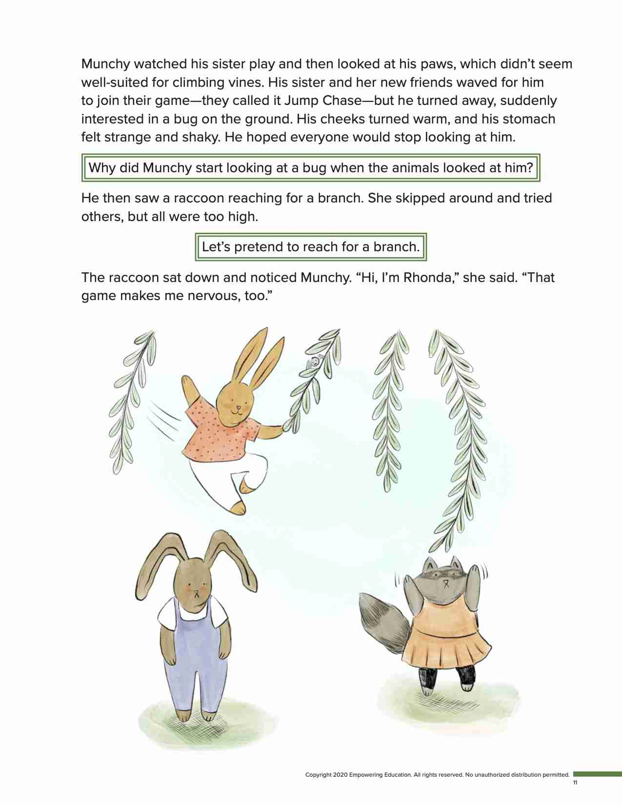 This page from Munchy and Jumpy helps kids learn social-emotional learning