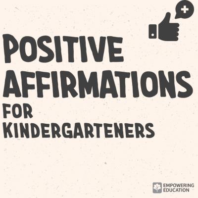 positive affirmations for kindergarten