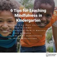 teaching mindfulness to kindergarteners