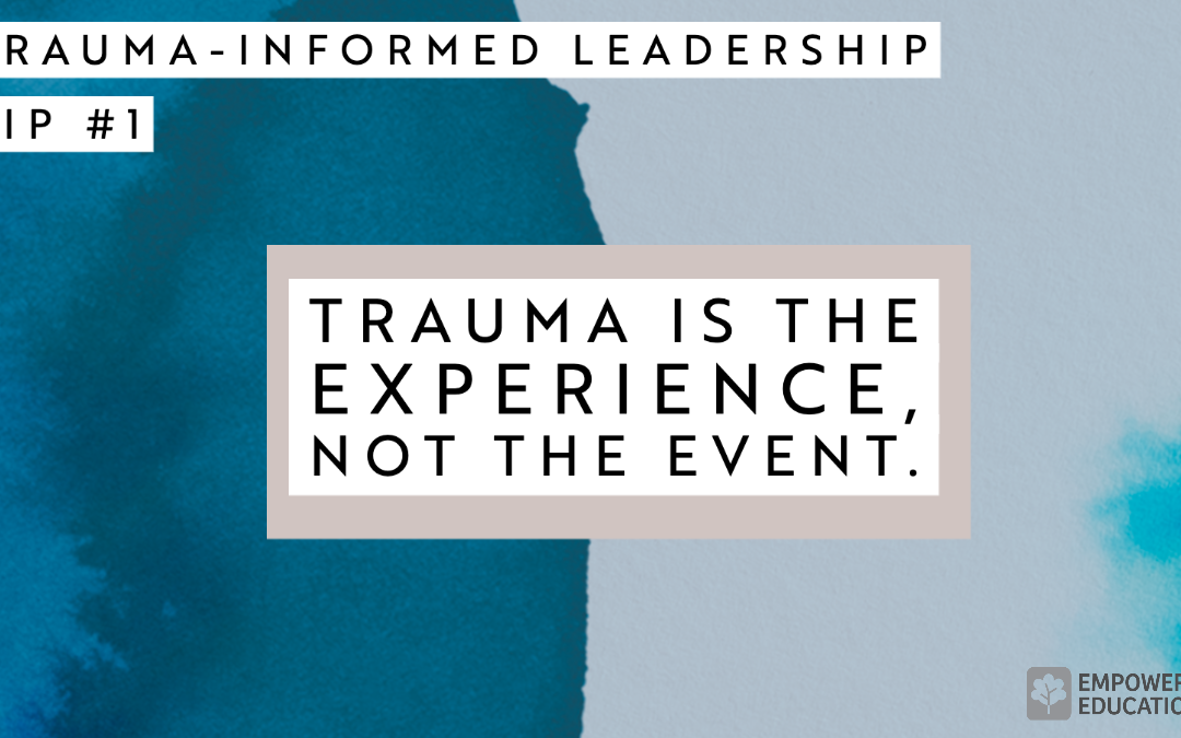 Trauma-Informed Management
