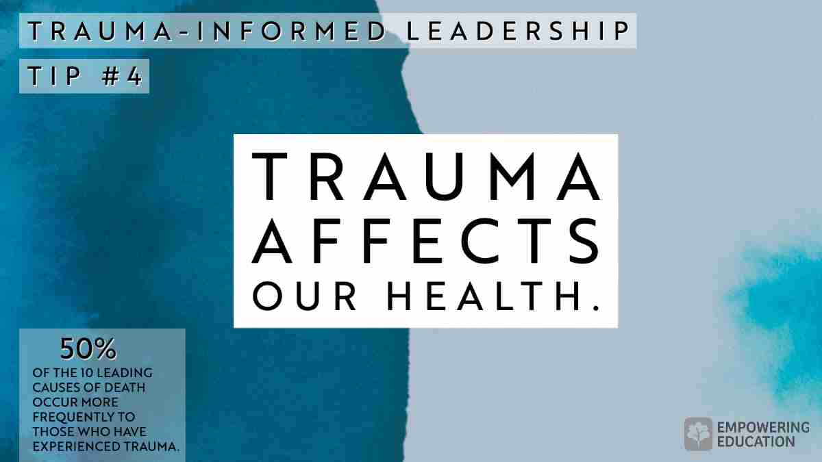 Trauma affects our health