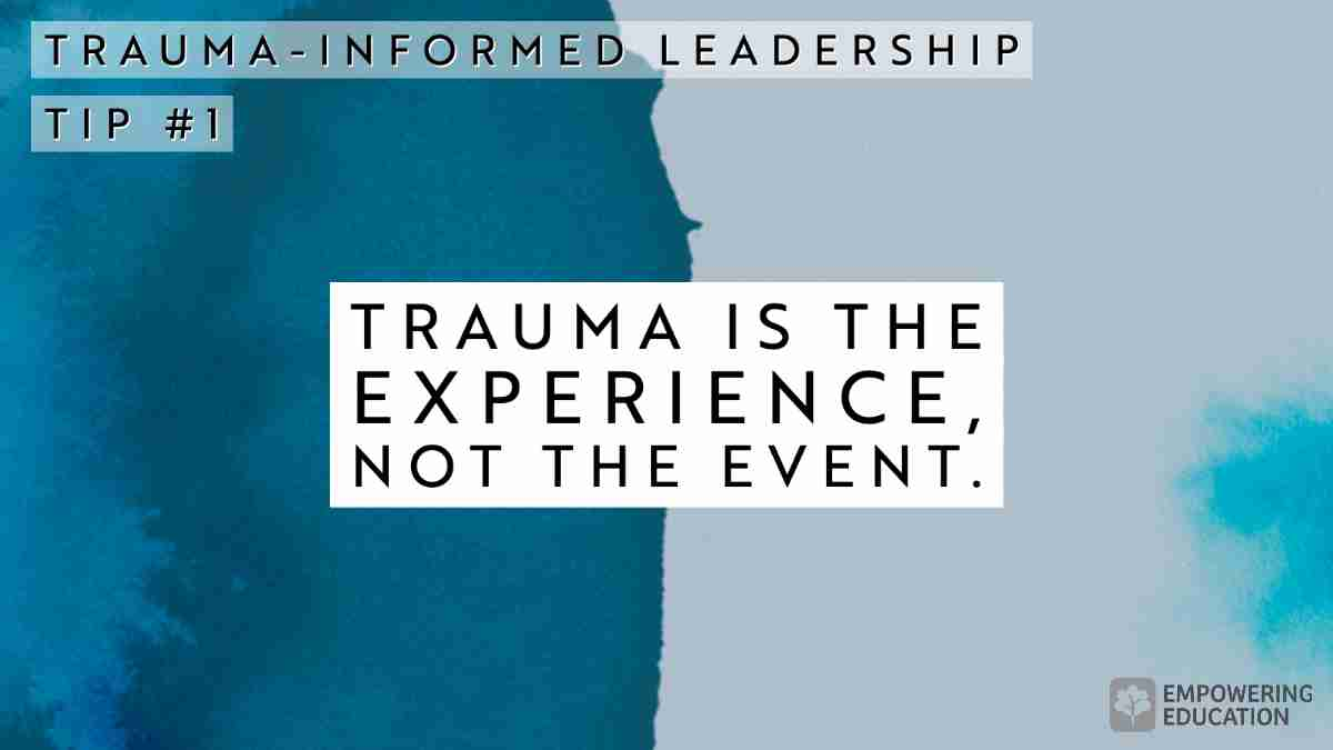 Trauma is the experience, not the event